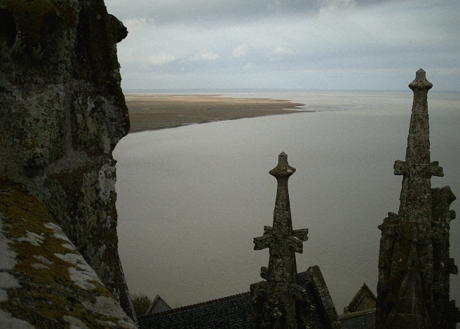 Mont St Michel - view from the abbey roof