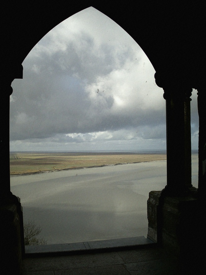 Mont St Michel - view from the cloisters